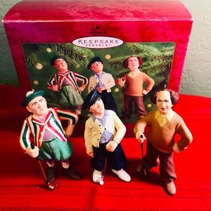 Larry, Moe And Curly Hallmark Christmas Ornaments